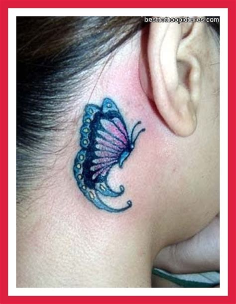 butterfly tattoos behind ear pictures 1000 images about tattoos on pinterest the ribbon