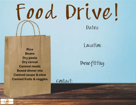 food drive flyer template microsoft bing images