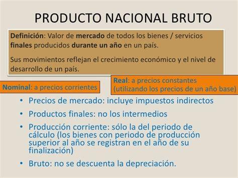 O Pnb producto nacional bruto pnb definanzas