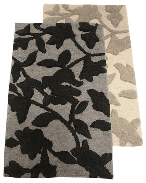 Black Bathroom Rugs And Mats by Novara Bath Rug Black Traditional Bath Mats By