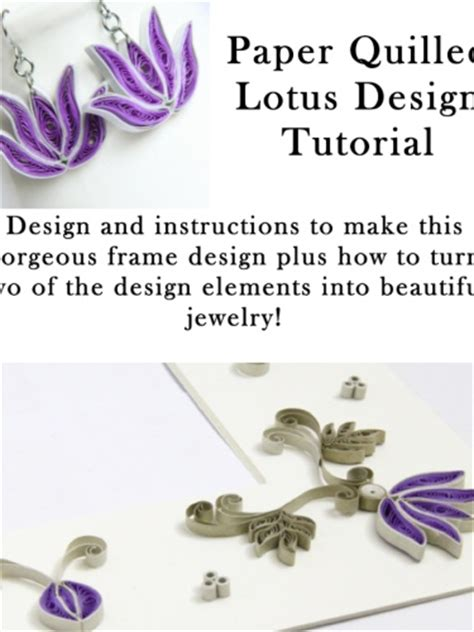 quilling tutorial free pdf paper quilling tutorial for jewelry pdf lotus flower and
