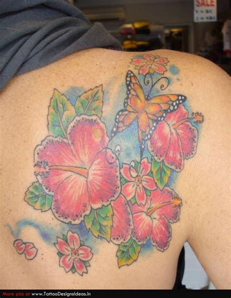 Butterfly And Flower Tattoo Designs Butterfly Flower And Tattoos