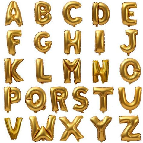 1 pcs 40 inch gold foil letter balloons mylar balloon