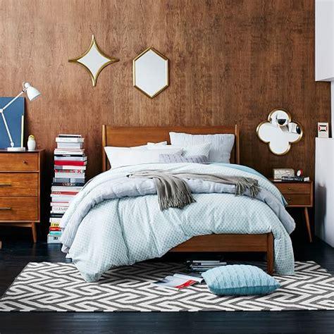 mid century style bedroom mid century bed acorn west elm