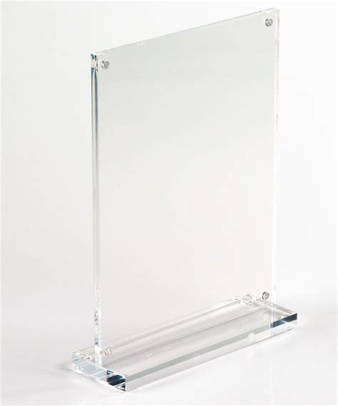 Acrilik Acrilic Acrilyc Standing Pop A4 stand up sign holders for 5 x 7 photos or ads