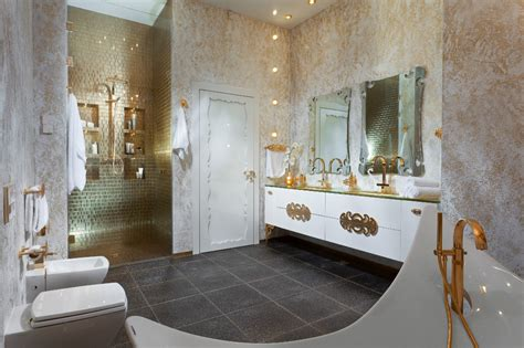 White And Gold Bathroom Ideas Gold White Bathroom Interior Design Ideas