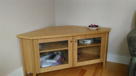 corner tv cabinet ikea ikea oak corner tv cabinet for sale in drumcondra dublin