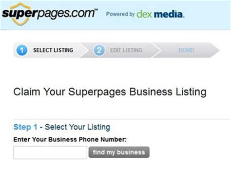 Superpages Finder How To Add A Business Listing To Superpages Local Seo Guide