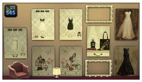 The Sims 4 Custom Paint Wall lintharas sims 4 paintings for your shop and home sims