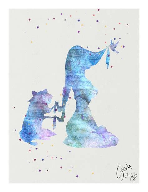 pocahontas and meeko archival fine art print walt by