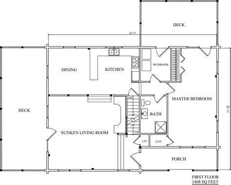 log home plan 01829 katahdin cedar log homes floor plans