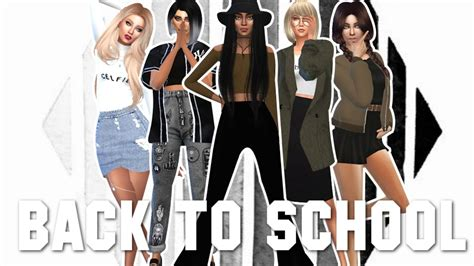 sims    school outfits  girls collab
