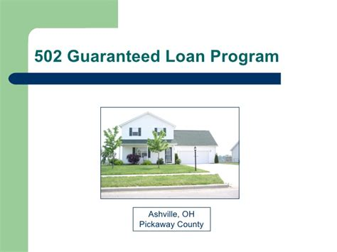 502 guaranteed rural housing loan program section 502 guaranteed rural housing loan 28 images 95 section 502 guaranteed