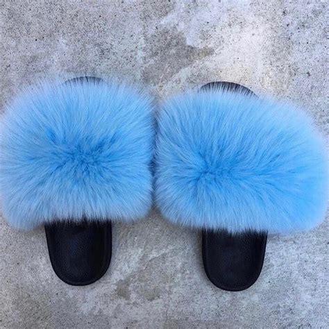 pin  monay johnson  flip flops faux fur
