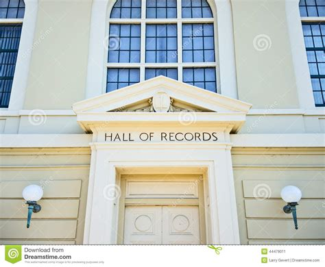 Napa Court Records Of Records Stock Photo Image 44479011