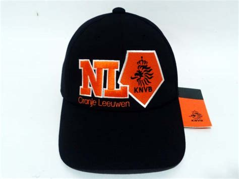 Topi Soccer topi official knvb black orange gudang sport