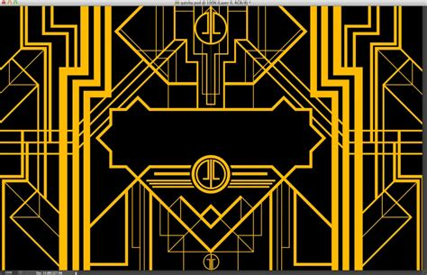 berbagi the great gatsby art deco style in illustrator