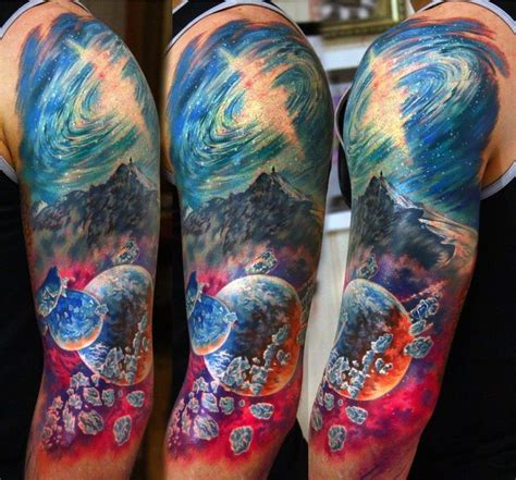 forearm tattoo process 24 best arm tattoos of space images on pinterest arm