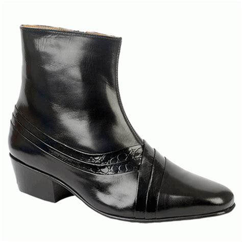 mens high heel dress boots mens cuban high heel reptile leather sole dress