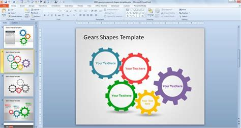 free gears powerpoint shapes template free powerpoint
