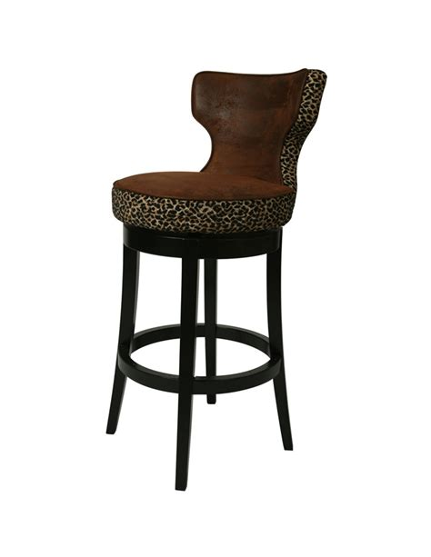 augusta counter stool feher black wrangler with leopard