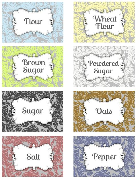 printable pantry labels printable pantry labels darling doodles crafts and diy