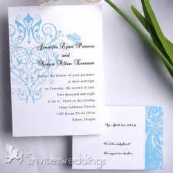 exclusive blue wedding invitation iwi111 wedding invitations