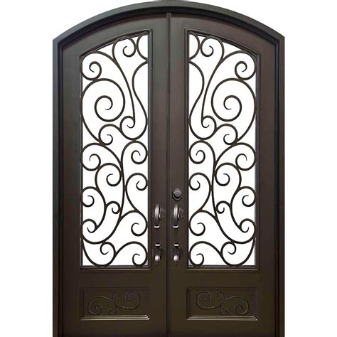 wrought iron doors florida iron doors 72 in x 96 in lauderdale eyebrow classic 3 4 lite painted wrought iron