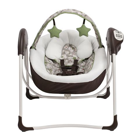 baby swing with lights galleon graco glider lite lx gliding baby swing zuba