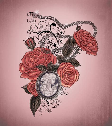 rose and locket tattoo locket and roses design by xxmortanixx on deviantart
