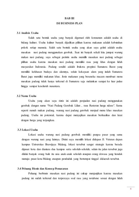 contoh laporan usaha kecil contoh proposal usaha makanan dan minuman indobeta