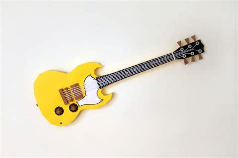 Papercraft Guitar - diy paper guitar 3d papercraft by paper amaze