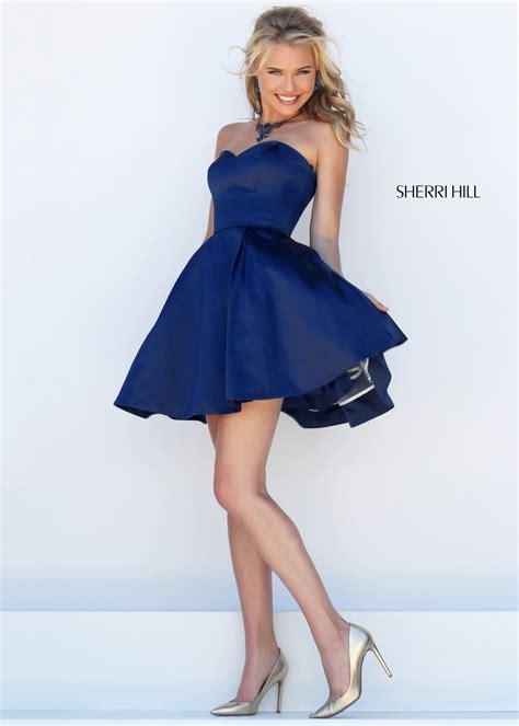 Strapless Mini Prom Dress by Sherri Hill 50228 Sassy Strapless Sweetheart Mini Prom