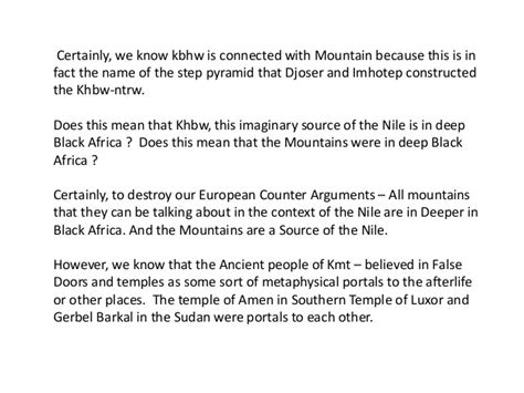 which of the following show evidence of ancient river beds primary evidence ancient egyptians came from inner africa