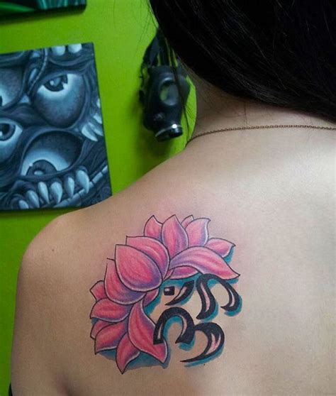 lotus flower with om tattoo designs 17 best images about ohm sign symbol on