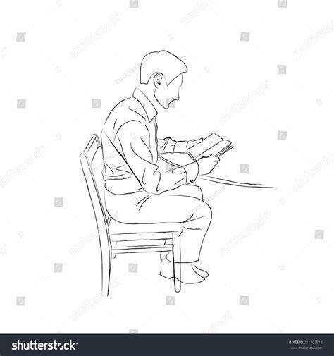 doodlebug sitting sketch doodle sitting table on stock vektor 211202512