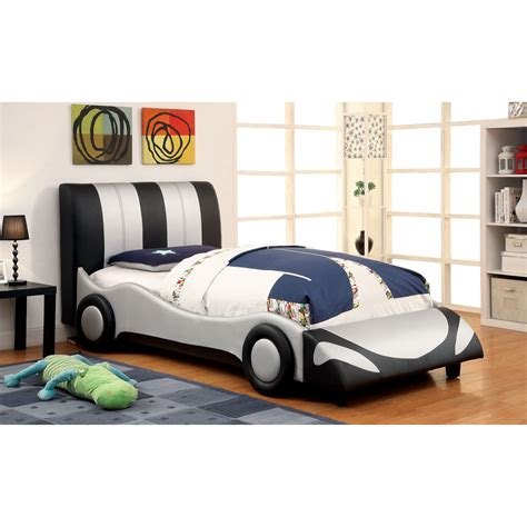 furniture of america ramirez race car bedroom set in white bedroom twin bed step2 hot wheels toddler with lights