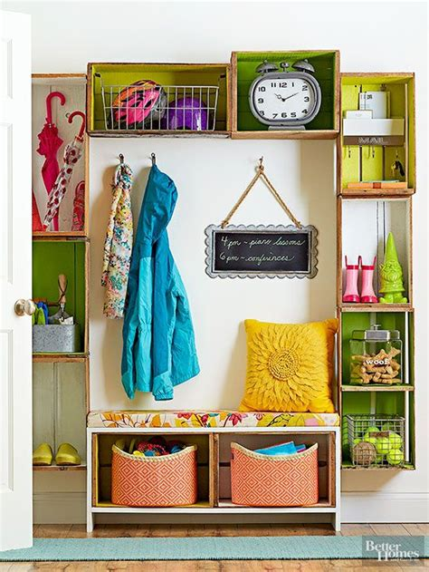 Front Entry Storage Solutions Creative Things To Do With Wood Crates