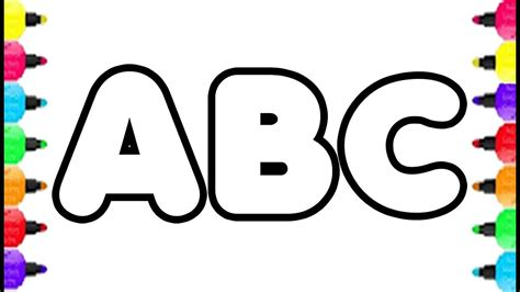 abc color alphabet abc coloring pages how to draw alphabet a to z