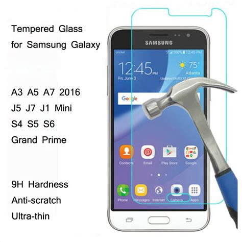 Tempered Glass Non Packing Samsung J2 2016 0 3mm 9h tempered glass for samsung galaxy 2015 2016 a3 a5 a7 j1 j2 j3 j5 j7 premium screen