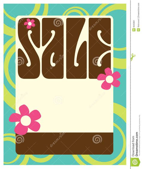 8 5x11 Seventies Style Flyer Poster Stock Image Image 9945861 8 5 X 11 Poster Template