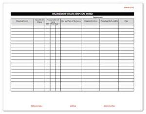 Waset Template by Hazardous Waste Disposal Form