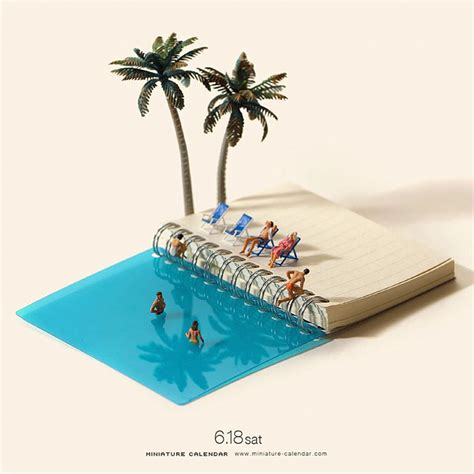 Miniature Calendar 13 Miniature Dioramas By Japanese Artist Who S Been