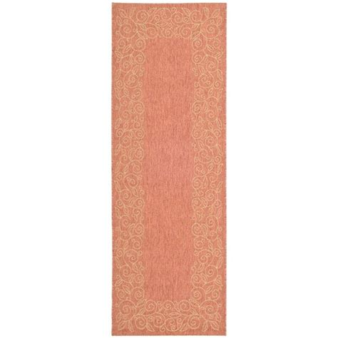 safavieh cy5139a courtyard indoor outdoor area rug rust lowe s canada safavieh courtyard terracotta beige 2 ft 3 in x 6 ft 7 in indoor outdoor runner cy5139a 27