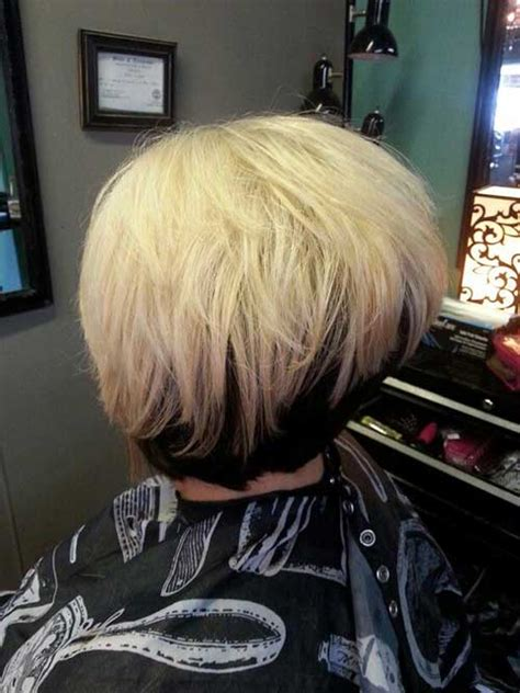 reverse wedge haircut back view reverse bob haircut back view short hairstyle 2013