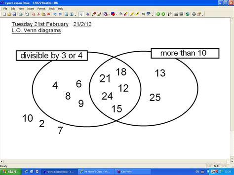 number sets diagram mr howe s class maths venn diagrams