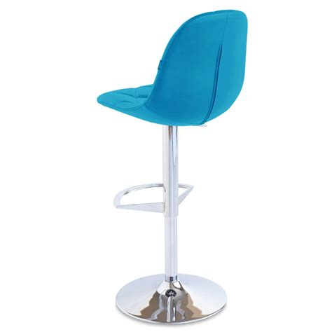 Teal Counter Stool by Romy Adjustable Height Swivel Armless Bar Stool Zuri Furniture