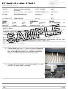 Site Observation Report Template Pin Construction Observation Report Template On Pinterest