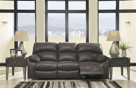 reclining sofa with adjustable headrest dunwell steel power reclining sofa with adjustable