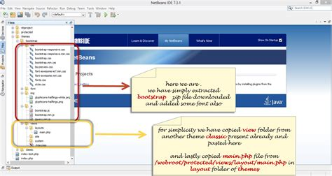 layout yii framework yii framework with twitter bootstrap in netbeans